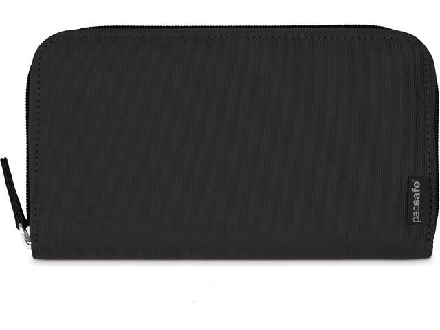 Pacsafe RFIDsafe LX250 Zippered Travel Wallet Black